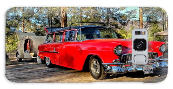 Red '55 Chevy Wagon Galaxy Case by Michael Pickett