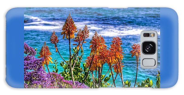 Red Aloe By The Pacific Galaxy Case by Jim Carrell