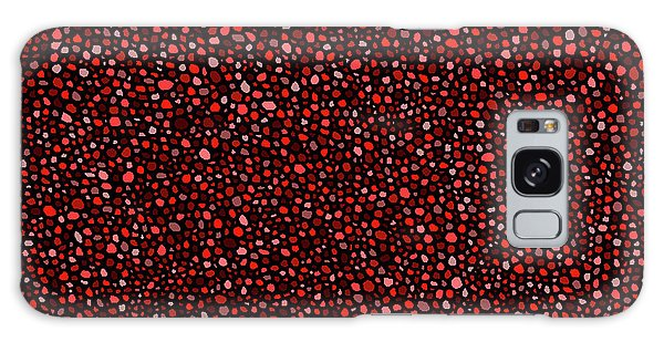 Red And Black Circles Galaxy Case by Janice Dunbar