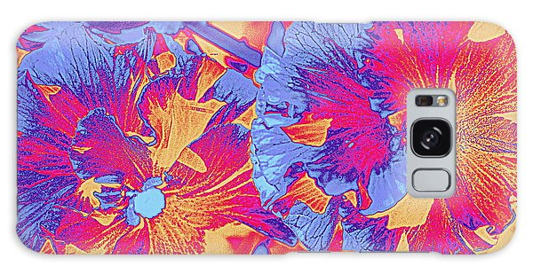 Red And Blue Pansies Pop Art Galaxy Case by Dora Sofia Caputo Photographic Art and Design