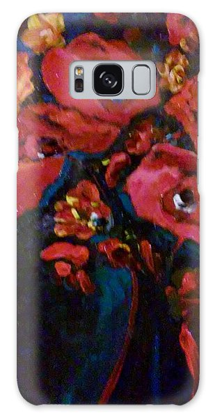 Galaxy Case featuring the painting Red And Blue by Ray Khalife