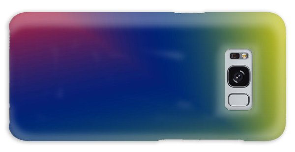 Red And Blue Star Beam On Yellow Galaxy Case by Karen Nicholson