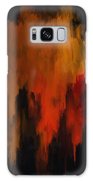 Red And Gold 1 Galaxy Case by Michael Pickett