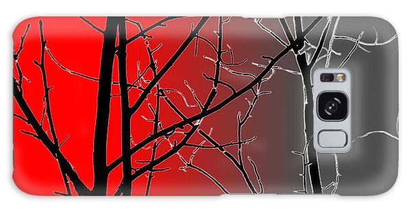 Red And Gray Galaxy Case by Cynthia Guinn