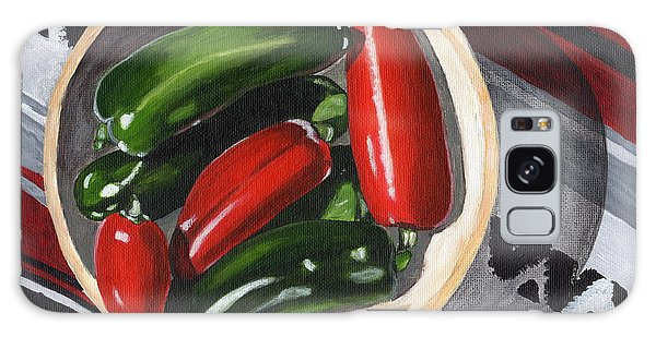 Red And Green Peppers Galaxy Case