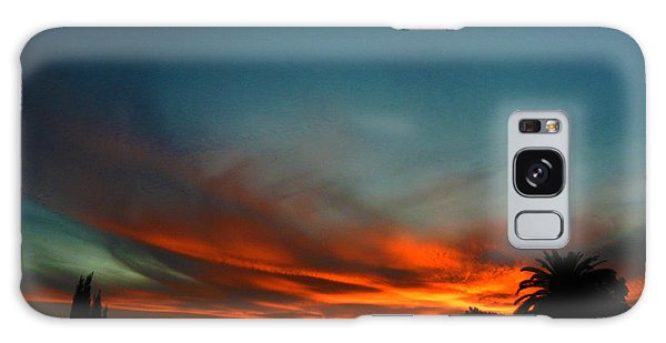 Red And Green Sunset Galaxy Case