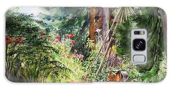 Galaxy Case featuring the painting Poppies Season In The Garden  by Irina Sztukowski