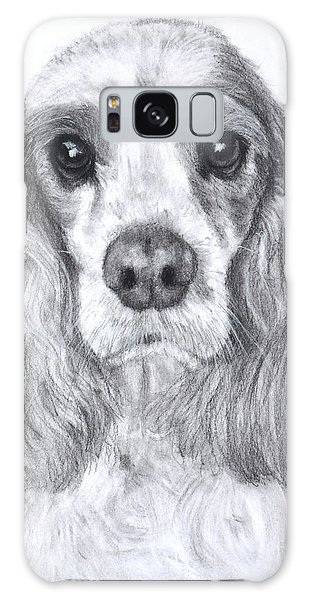 Red And White Cocker Spaniel Galaxy Case