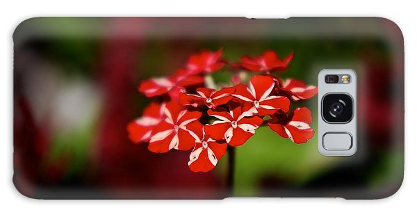 Red And White Flower Galaxy Case
