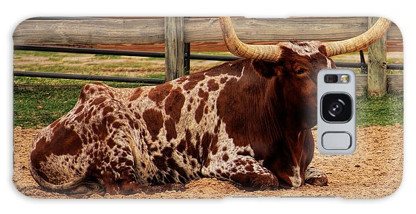 Red And White Texas Longhorn Galaxy Case