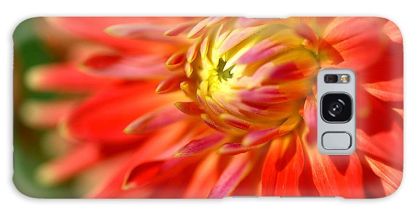 Red And Yellow Dahlia Flower Close Up Galaxy Case