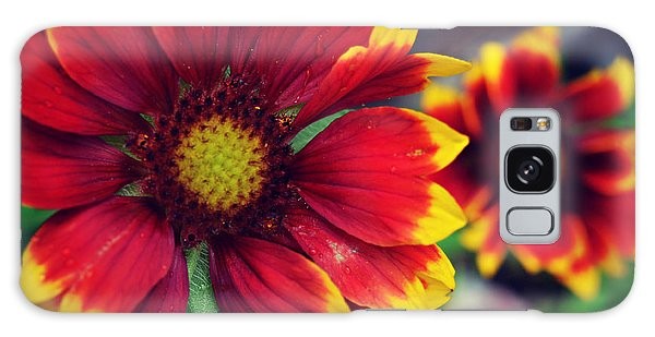 Red And Yellow Flower Galaxy Case