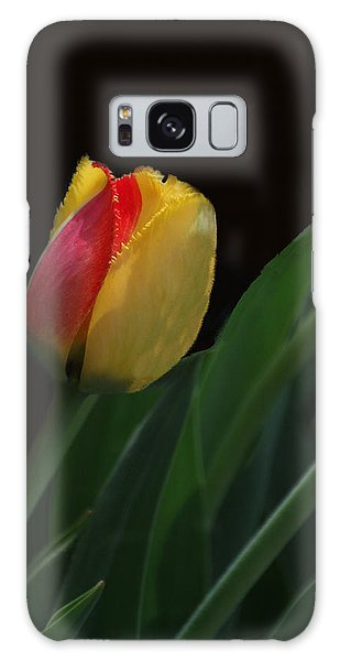 Red And Yellow Fringe Tulip Galaxy Case by Bill Woodstock