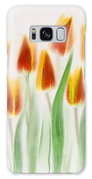 Tulips Galaxy Case - Red And Yellow Tulips by Brian Haslam