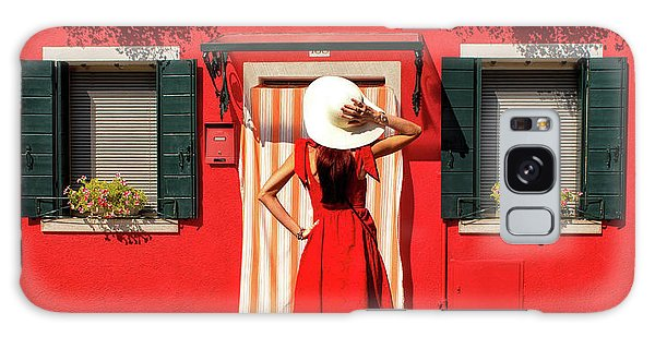 House Galaxy Case - Red by Anette Ohlendorf