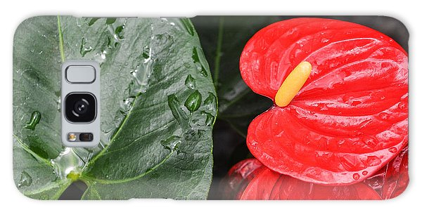 Red Anthurium Flower Galaxy Case