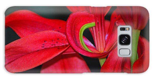 Red Asiatic Lily Galaxy Case