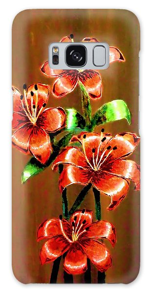 Red Azaleas Galaxy Case