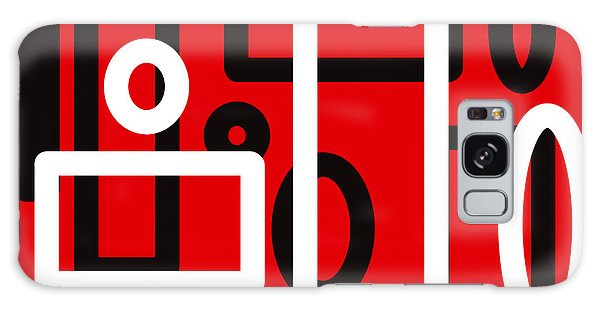 Red Back And White Design Galaxy Case