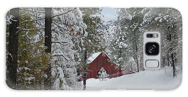 Red Barn 1 Galaxy Case by Loni Collins