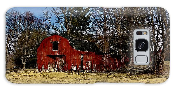 Red Barn Amongst Trees Galaxy Case