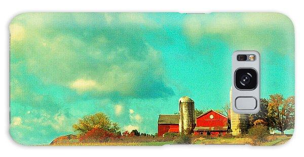 Red Barn Blue Sky Galaxy Case by Brooke T Ryan
