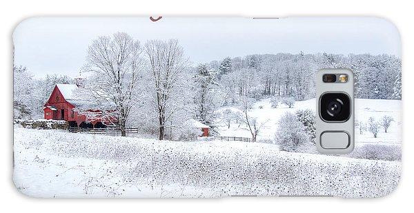 Red Barn Christmas Card Galaxy Case