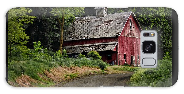 Red Barn - County Road  Galaxy Case