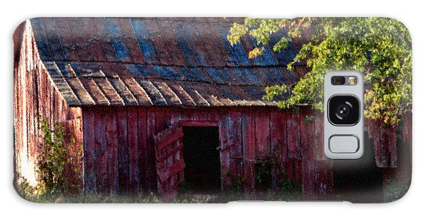 Red Barn Eleven Galaxy Case by Ken Frischkorn
