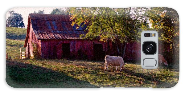 Red Barn Five Galaxy Case by Ken Frischkorn