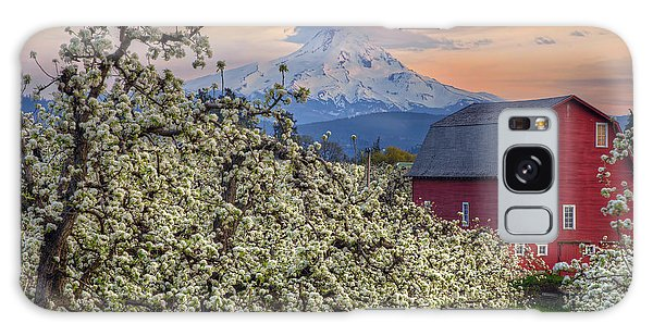Red Barn In Hood River Pear Orchard Galaxy Case