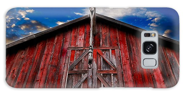 Red Barn Galaxy Case by Michael White