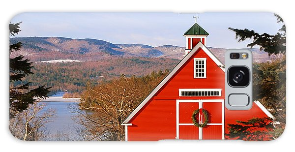 Red Barn On Newfound Lake Galaxy Case