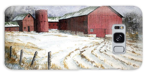 Red Barn On Rt. 49 Galaxy Case