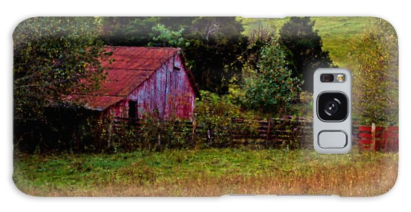 Red Barn One Galaxy Case by Ken Frischkorn