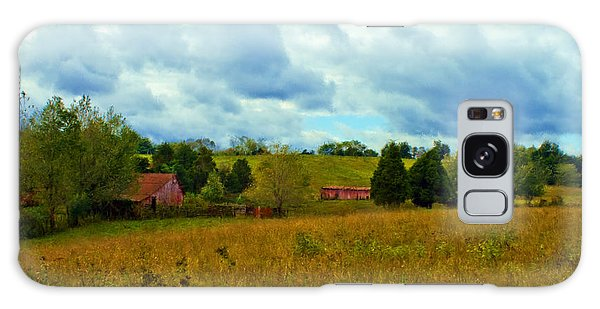 Red Barn Six Galaxy Case by Ken Frischkorn
