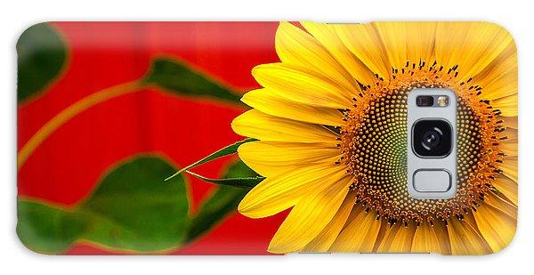 Red Barn Sunflower Galaxy Case