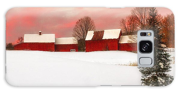 Red Barn Sunset Galaxy Case