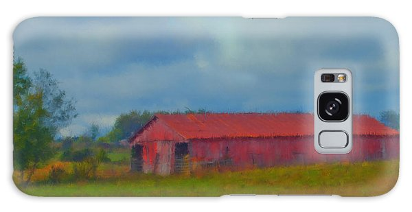Red Barn Three Galaxy Case by Ken Frischkorn