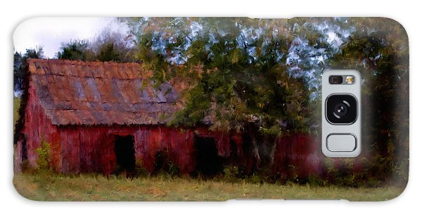 Red Barn Two Galaxy Case by Ken Frischkorn