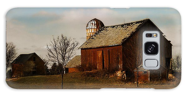 Red Barn - Waupaca County Wisconsin Galaxy Case by David Blank