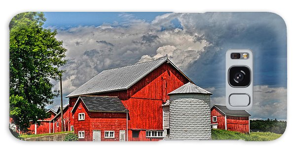 Red Barn White Silo Galaxy Case by Trey Foerster
