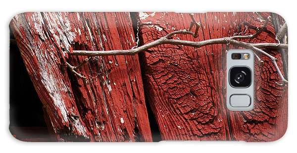 Red Barn Wood With Dried Vine Galaxy Case by Rebecca Sherman