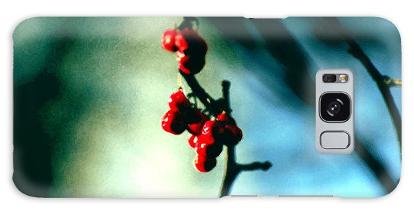 Red Berries On Canvas Galaxy Case