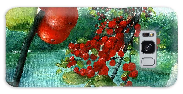 Red Berry Tree On Louisiana Pond Galaxy Case