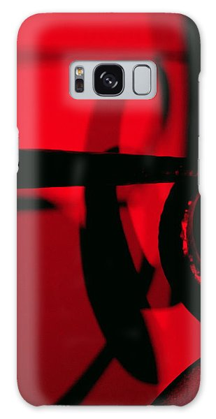Red Black Galaxy Case by Randall Weidner