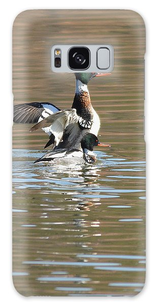 Red-breasted Merganser Galaxy Case by Alan Lenk
