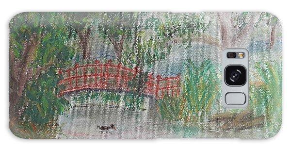 Red Bridge At Wollongong Botanical Gardens Galaxy Case