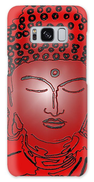 Red Buddha Galaxy Case by Christine Perry