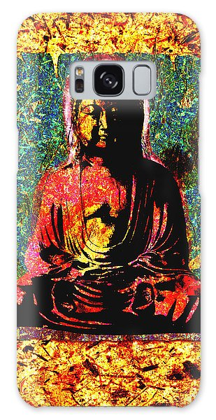 Red Buddha Galaxy Case by Peter Cutler